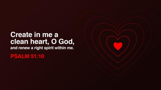 Psalm 51:10 verse of the day image
