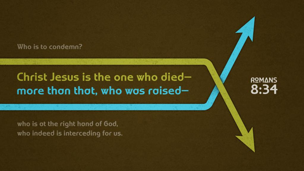 Romans 8:34 large preview