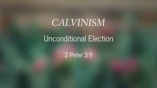 Calvinism-Unconditional Election