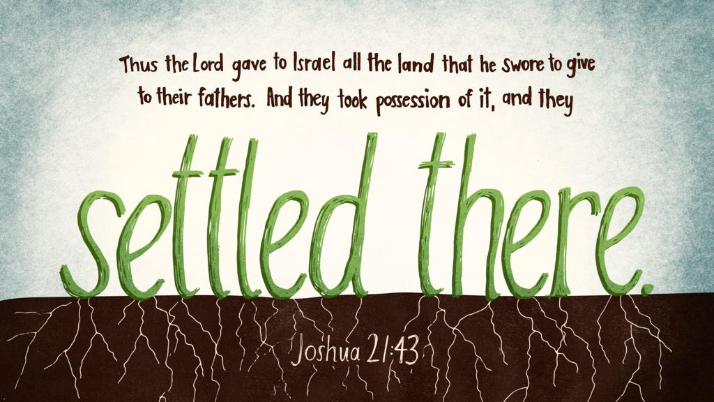 Joshua 21:43 large preview