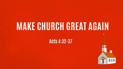 Make Church Great Again