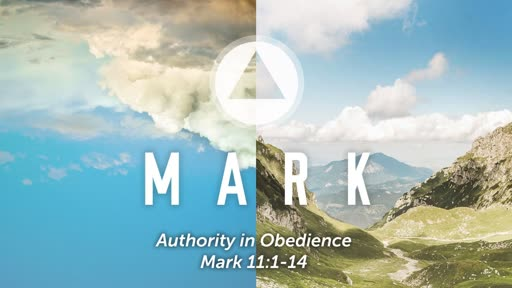 """Authority in Obedience"" - Mark 11:1-14"
