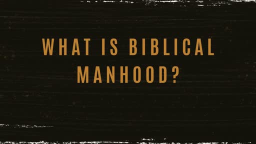 On Biblical Manhood