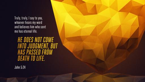 John 5:24 verse of the day image