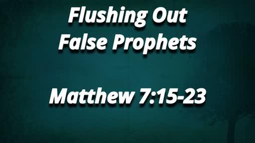 Flushing Out False Prophets 8/26/2018