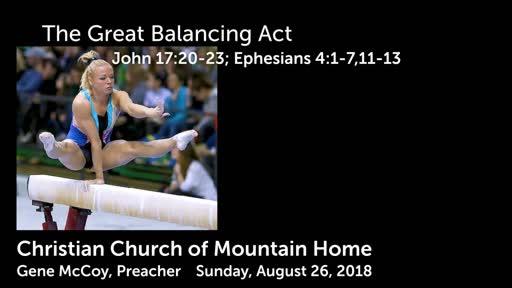The Great Balancing Act