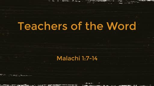 Teachers of the Word