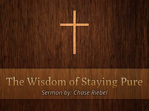 The Wisdom of Staying Pure