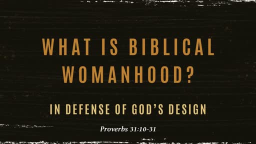 On Biblical Womanhood