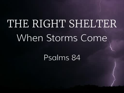 The Right Shelter