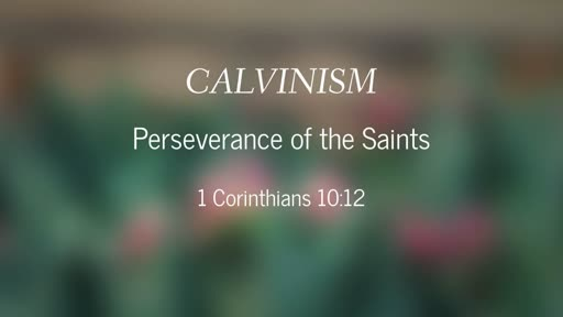 Calvinism-Perseverance of the Saints