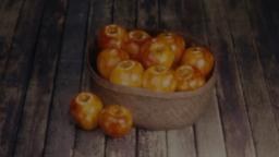 Apple Basket content a PowerPoint Photoshop image