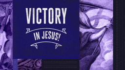 Victory in Jesus! subheader 16x9 PowerPoint Photoshop image