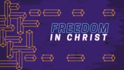 Freedom in Christ subheader 16x9 PowerPoint Photoshop image