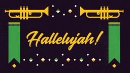 Hallelujah Kente 16x9 PowerPoint Photoshop image