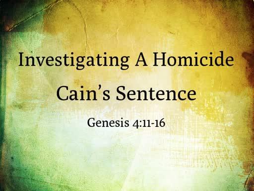 Cain's Sentence