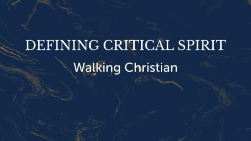 Defining Critical Spirit