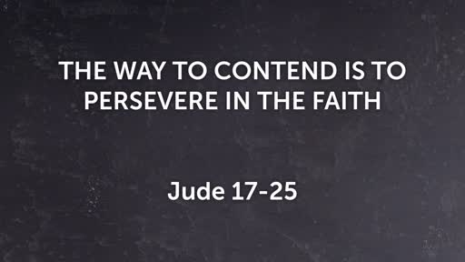 The Way to Condent is to Persevere in the Faith