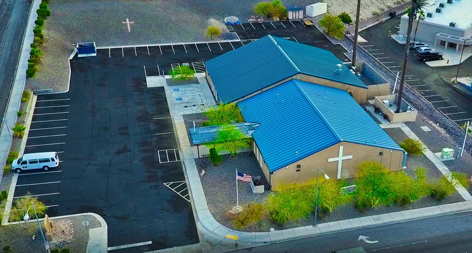 Laughlin Community Church - Aerial View (2018 Photo)