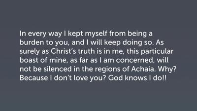 "Paul's Assessment of the ""Super Apostles,"" Part 2 (2 Cor 11:9c–15)"