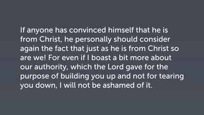 Perspective on Paul's Authority (2 Cor 10:7b–11)
