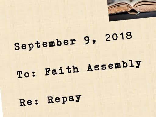 Sunday Service 9/9/2018