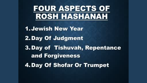 Pastor David Cohen ~ Rosh Hashana Pt 2