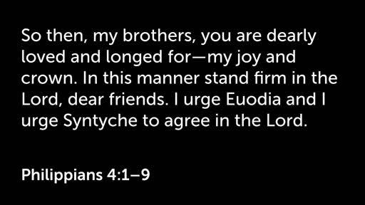 16 September AM - Philippians 4:1-9