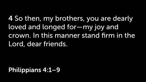 16 September PM - Philippians 4:1-9