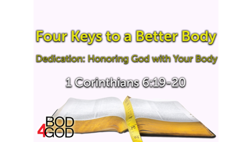 Dedication:  Honoring God with Your Body