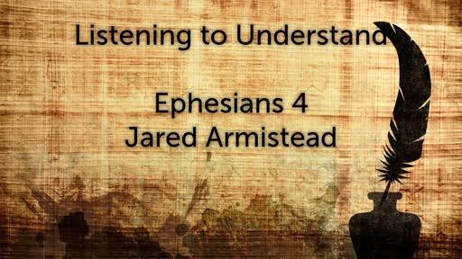 Listening to Understand (Armistead), September 16