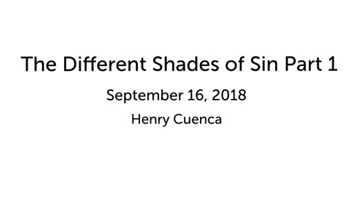 The Different Shades of Sin Part 1