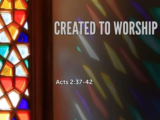 Created to Worship