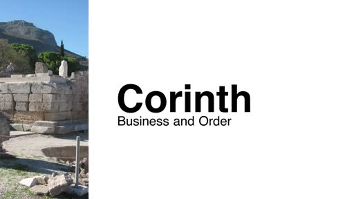 Business and Order in Corinth