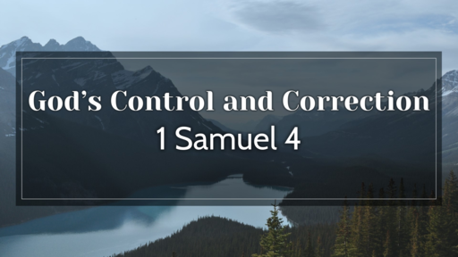 God's Control and Correction
