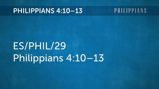 ES/PHIL/29 Philippians 4:10–13