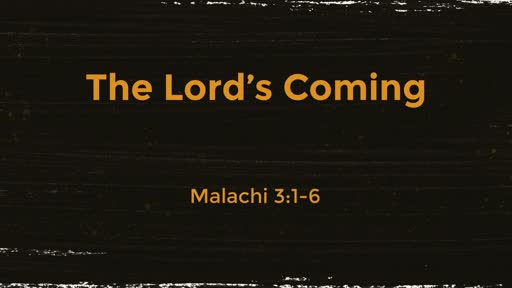 The Lord's Coming