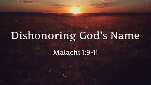 Dishonoring God's Name