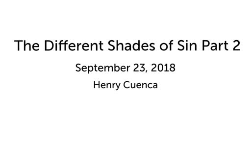 The Different Shades of Sin Part 2