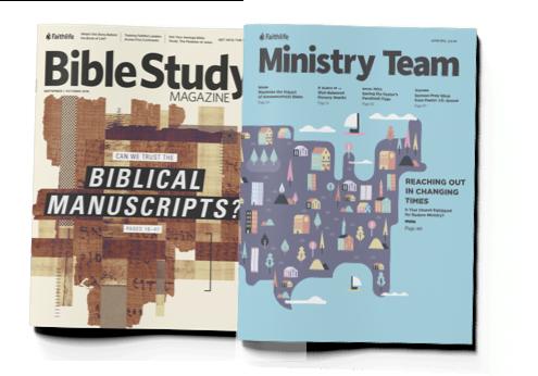 Bible Study Magazine & Ministry Team Magazine Covers