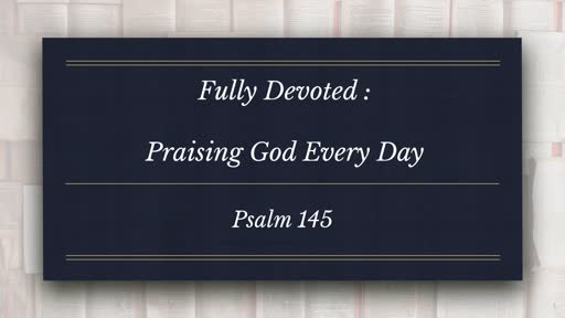 Fully Devoted:  Part of the Conformed Series