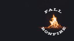 Harvest Bonfire fall event 16x9 PowerPoint image