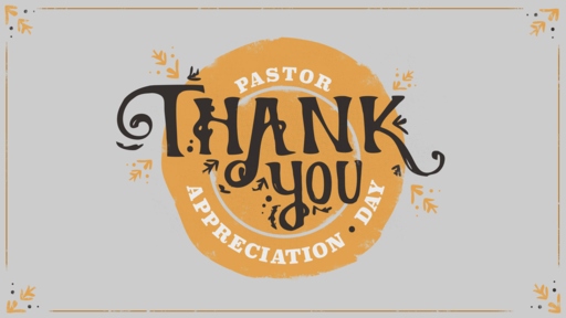 Pastor Appreciation Thank You