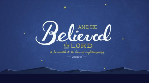 Genesis 15:6 verse of the day image