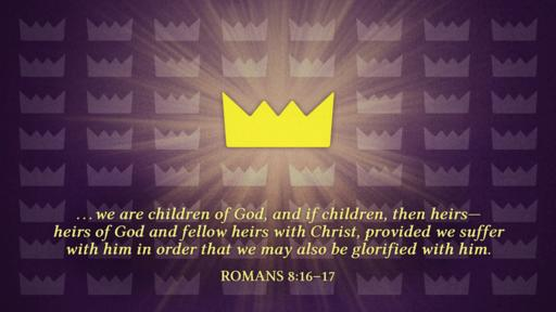 Romans 8:16–17 verse of the day image
