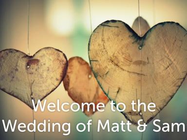 CCC Wedding of Sam and Matt