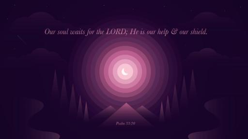 Psalm 33:20 verse of the day image