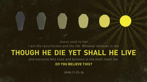 John 11:25–26 verse of the day image