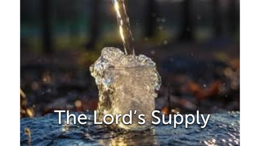 The Lord's Supply