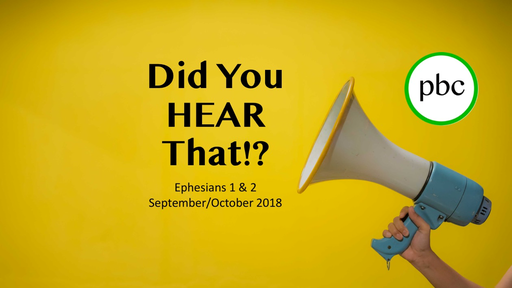 Good News - Christ alive IN us.  -  Ephesians 1:15-22